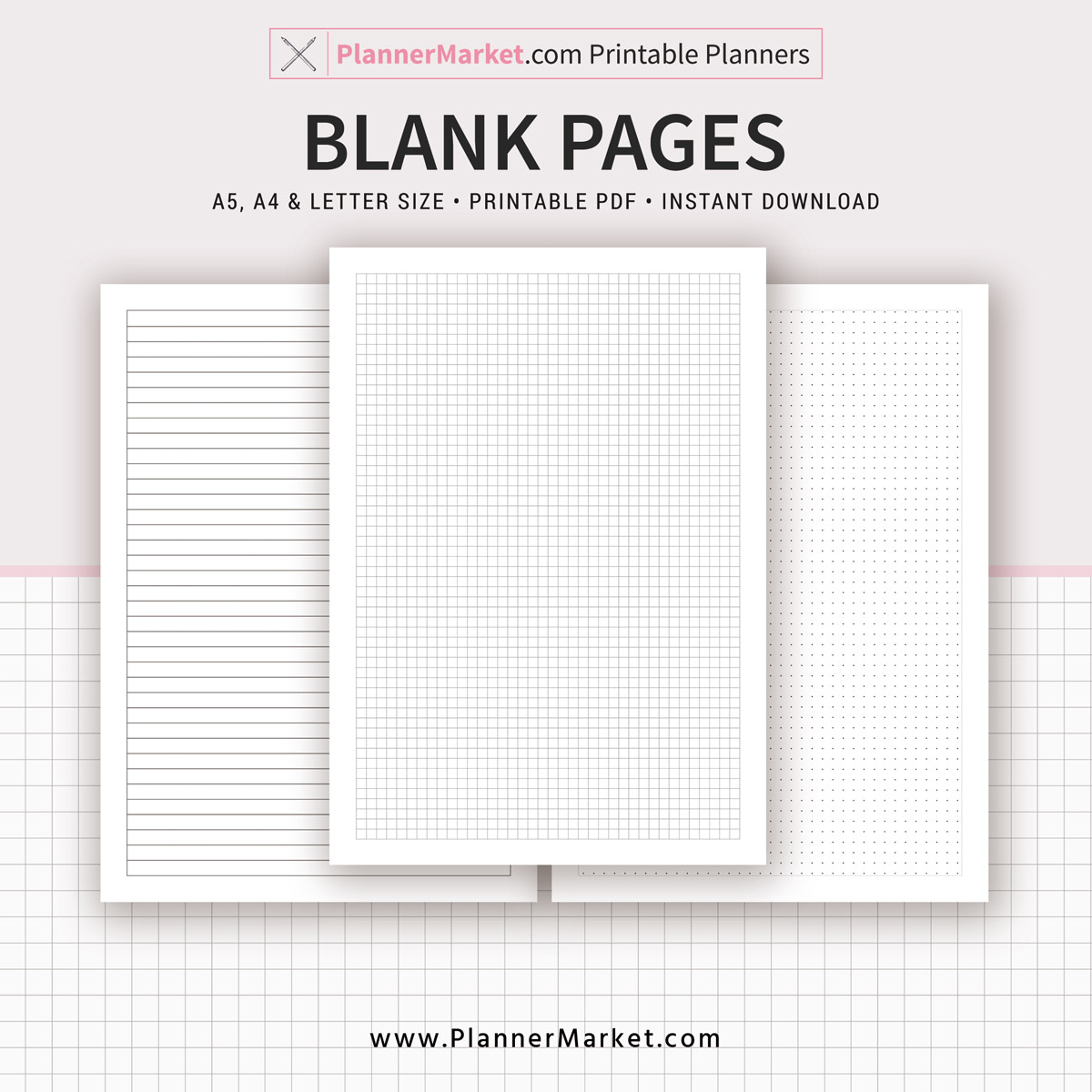 graphic about Blank Planner called Blank Internet pages, 2019 Planner, Planner Inserts, A5, A4, Letter Dimensions, Planner Refill, Planner Binder, Immediate Obtain