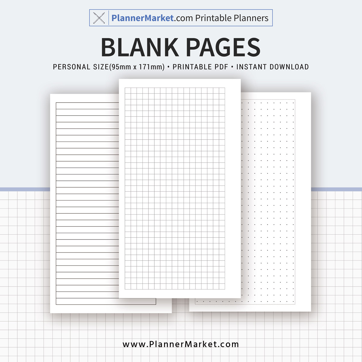 blank page 2018 2019 planner personal size inserts planner refill