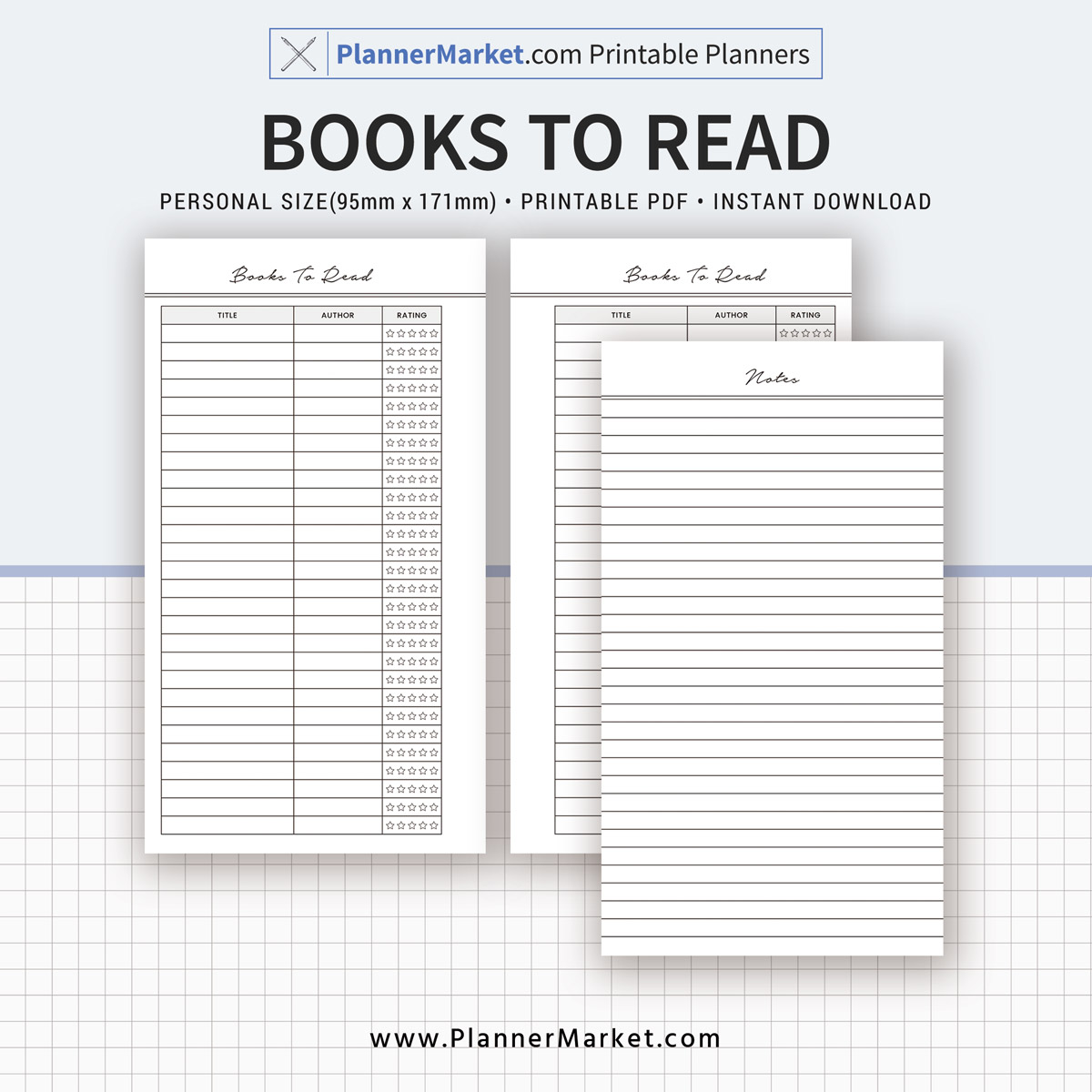image about Books to Read Printable named Publications Towards Study, Notes Web site, Person Sizing, Planner Inserts, Planner Refill, Planner Binder, Fast Down load