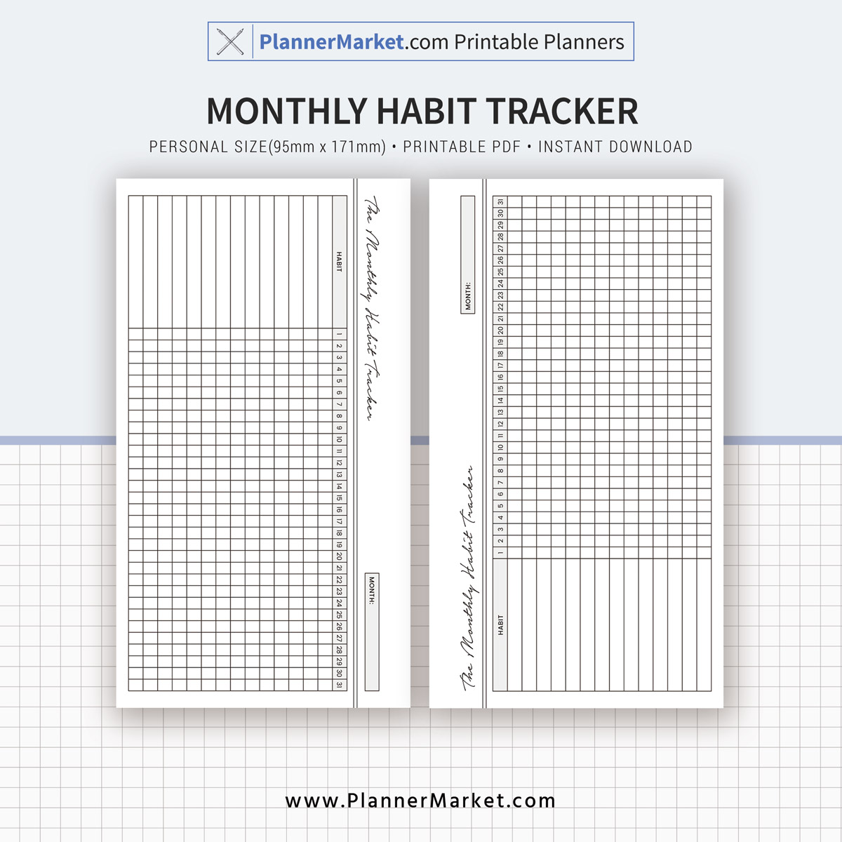 Habit Tracker, Monthly Habit Tracker, 2019 Planner ...