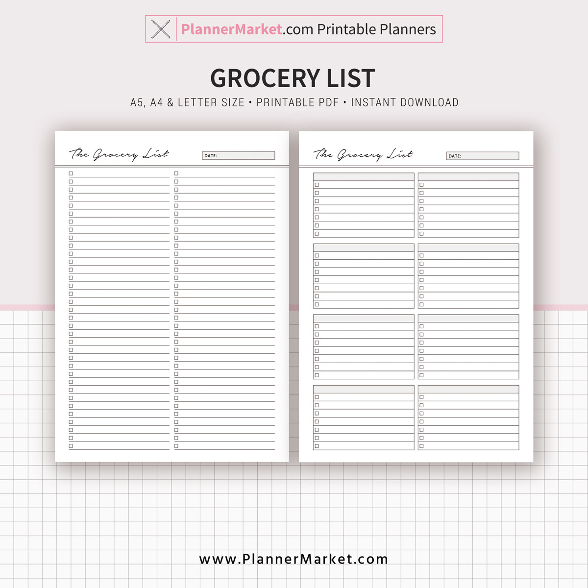 meal planner 2019 menu planner grocery list a5 a4 letter size