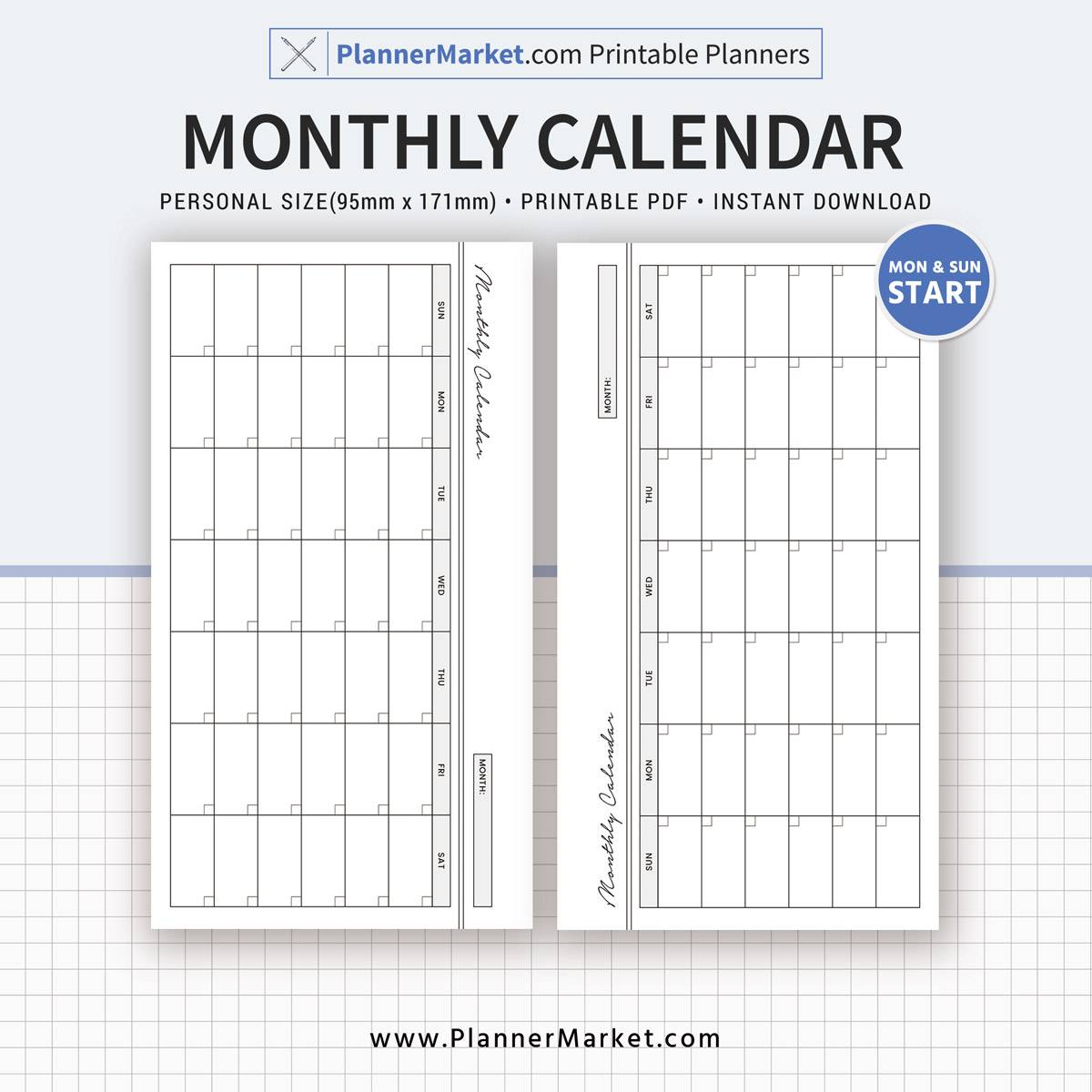 2019 Monthly Calendar  Monthly