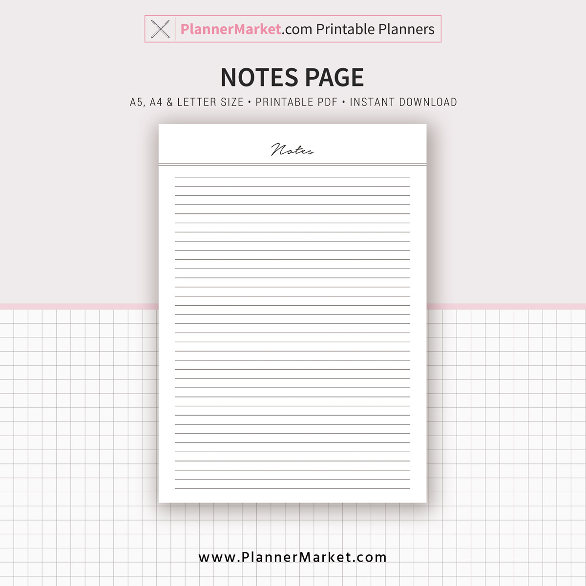 photo relating to Printable Notes referred to as Notes Web site, 2019 Planner, A5, A4, Letter Measurement, Planner Refill, Planner Binder, Printable Planner, Instantaneous Obtain