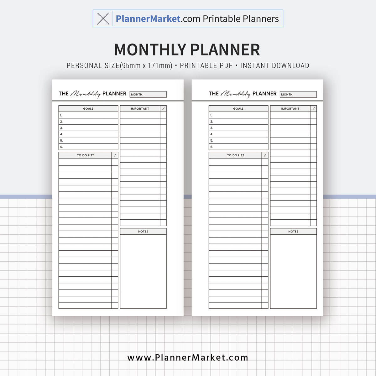 2019 planner bundle daily weekly monthly to do notes planner
