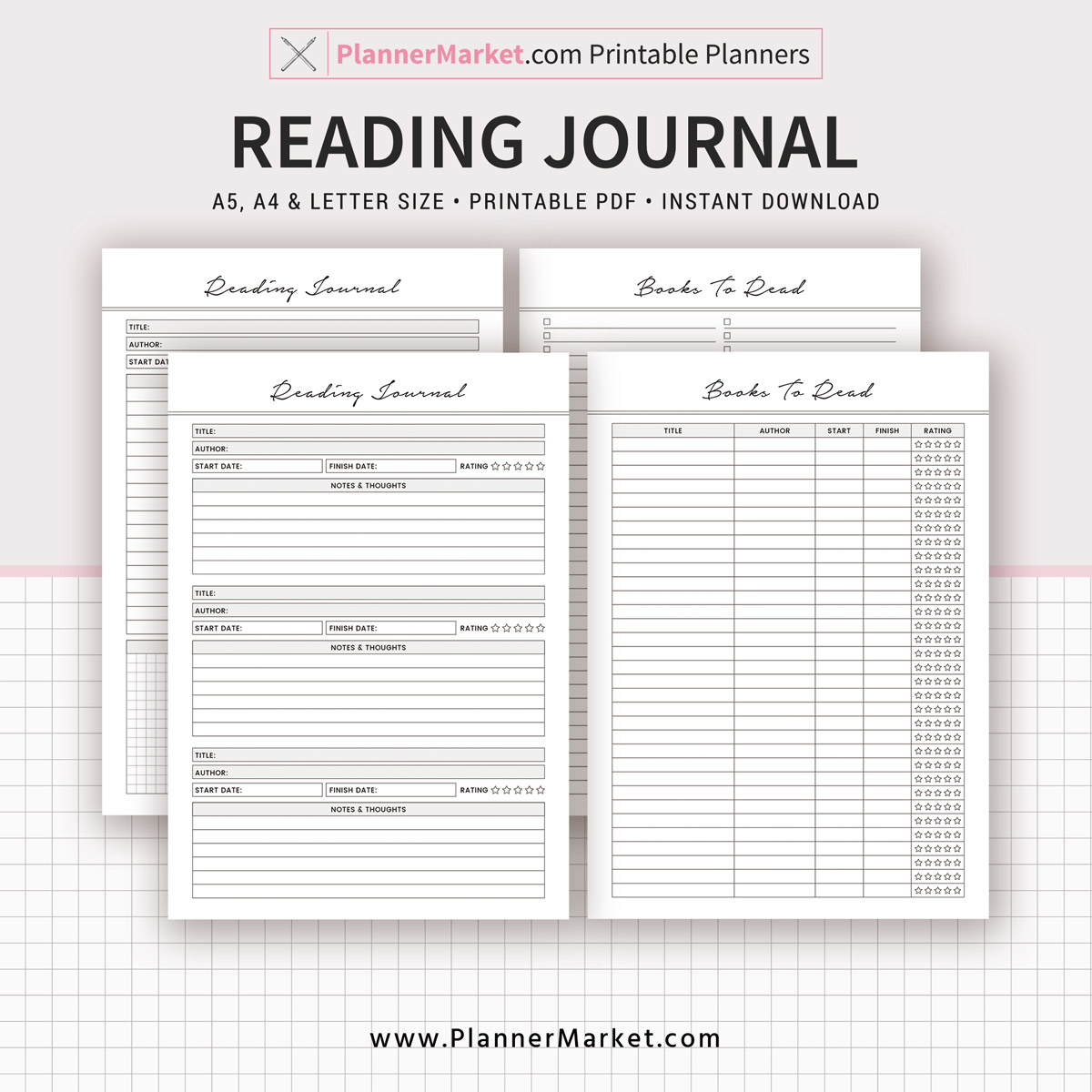 image about Books to Read Printable referred to as Reading through Magazine, Textbooks Towards Browse, 2019 Planner, A5, A4, Letter Dimensions, Planner Refill, Planner Binder, Prompt Down load