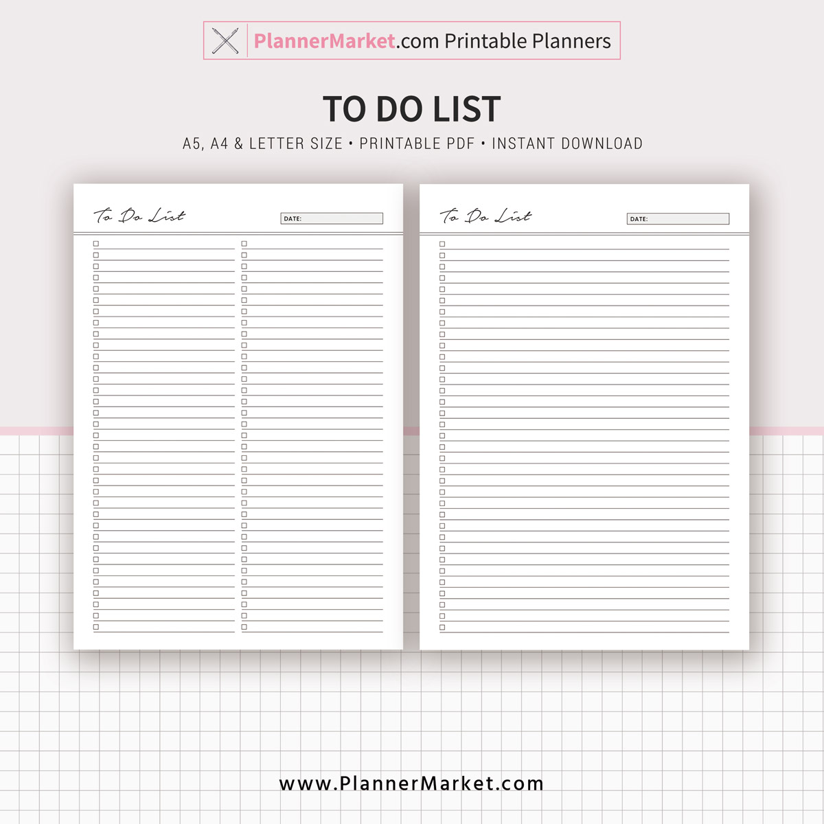 photo about Printable to Do List Pdf titled In direction of Do Checklist, Planner 2019, A5, A4, Letter Dimension, Printable Planner, Planner Refill, Planner Binder, Immediate Down load