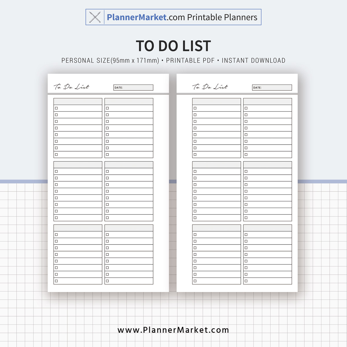 to do list, 2019 planner, personal size, planner inserts, planner