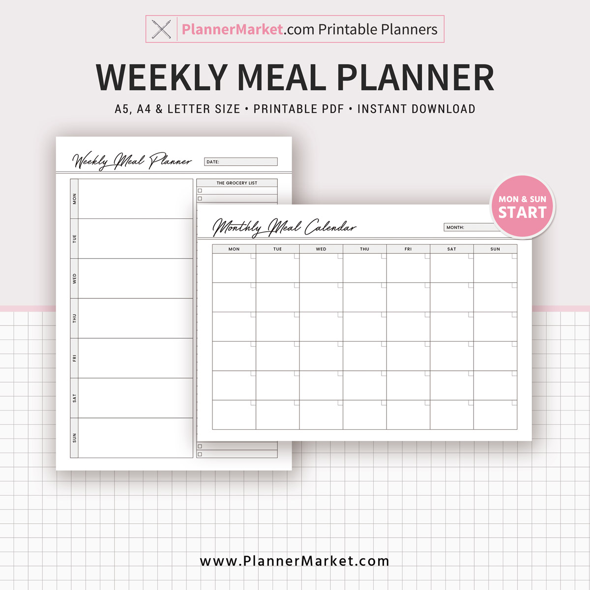 weekly meal planner inserts 2019 menu planner monthly meal