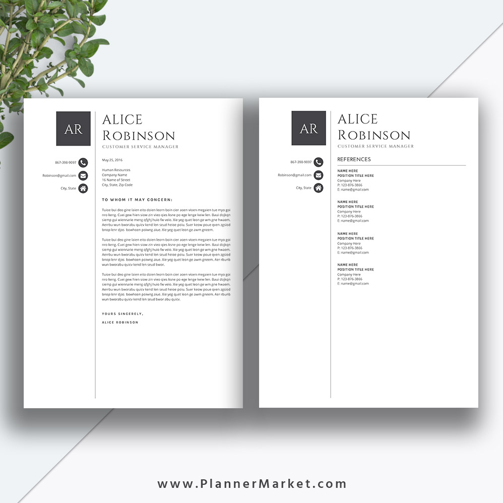 Professional Resume Template Microsoft Word: Professional Resume Template, Cover Letter, MS Word