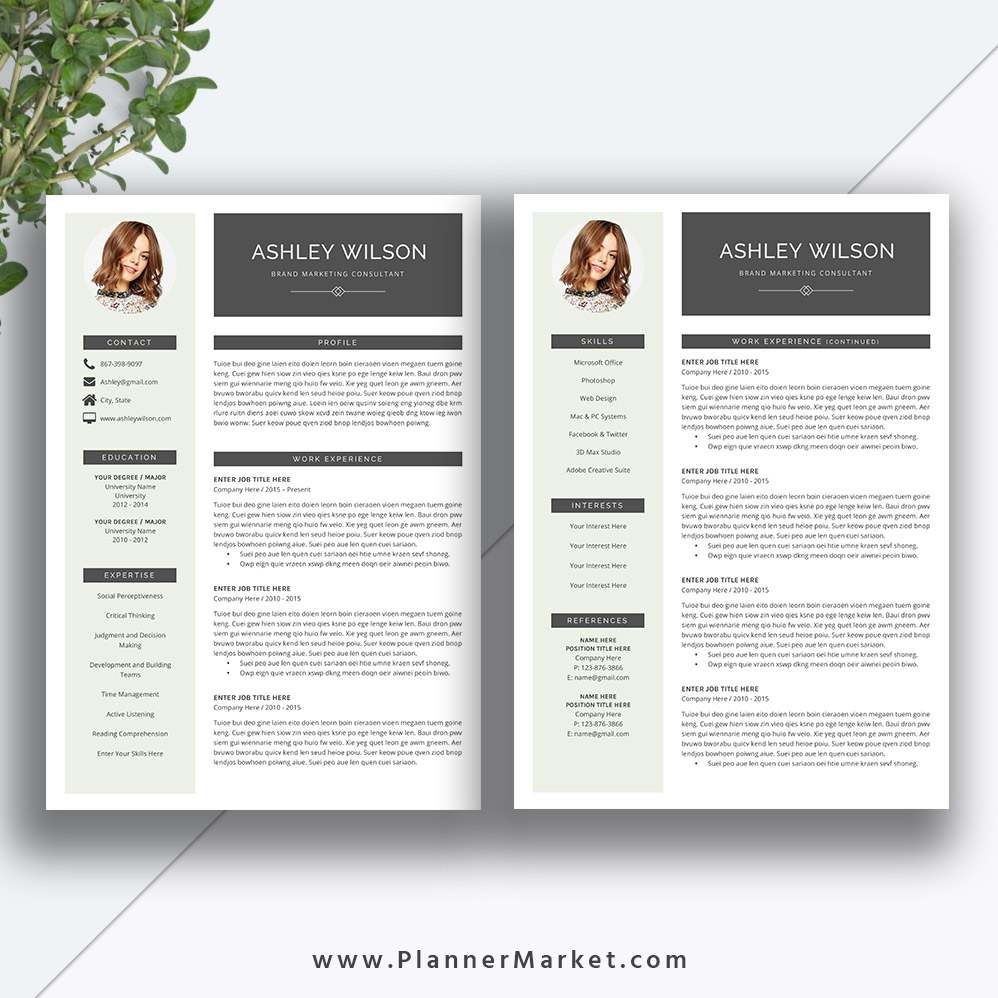 this beautiful and modern ms office word resume template with cover letter helps you be a