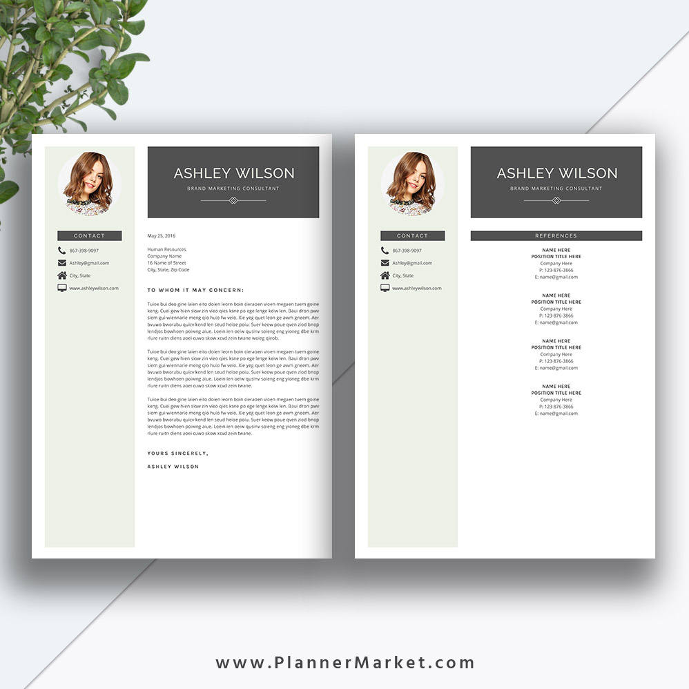 this beautiful and modern ms office word resume template with cover letter