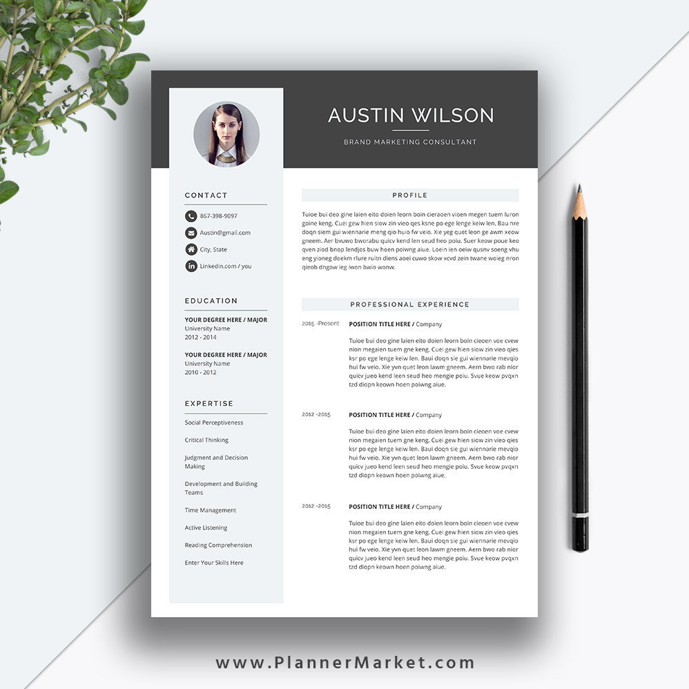 This Eye Catching Resume Template