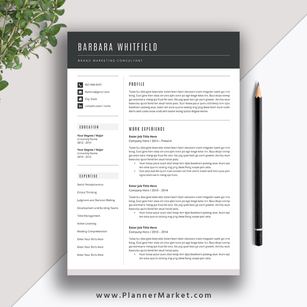 want your resume stand out  try this beautiful resume template with matching cover letter