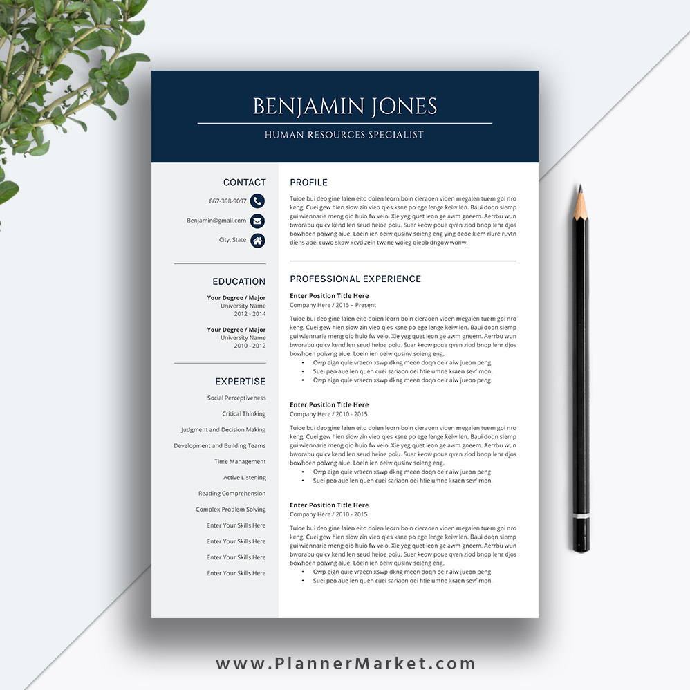 professional and irresistible ms word resume bundle    curriculum vitae for digital download to