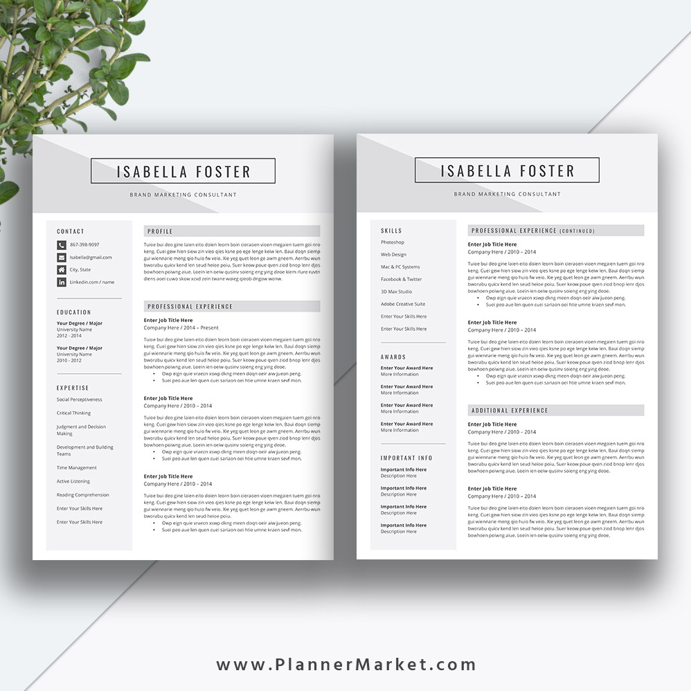 never miss an interview opportunity and find your dream job with this modern resume template