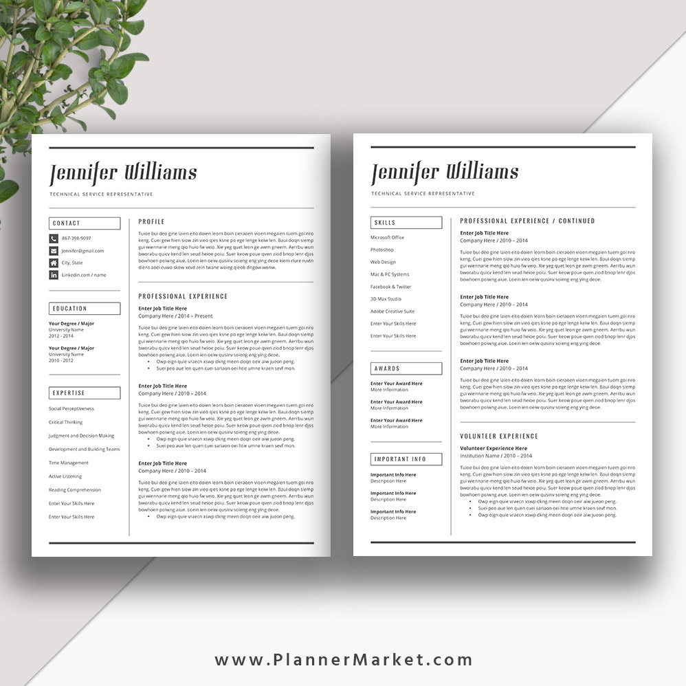 make your resume easily readable with this professionally designed