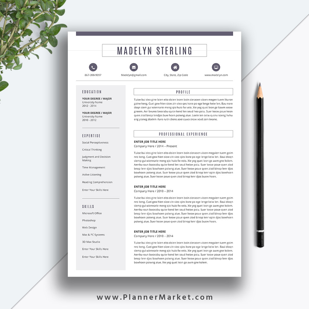 Best Resume Templates 2020.Professional Resume Template 2019 2020 Cv Template Creative Resume Cover Letter Word Resume Instant Download The Madelyn Resume