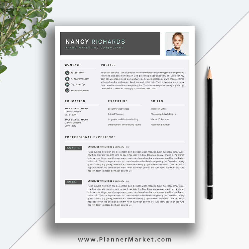 Resume Template College Grad from www.plannermarket.com