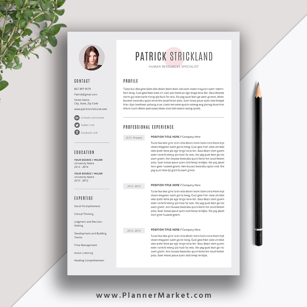Unique Resume Template Creative Cv Template Word Modern Resume