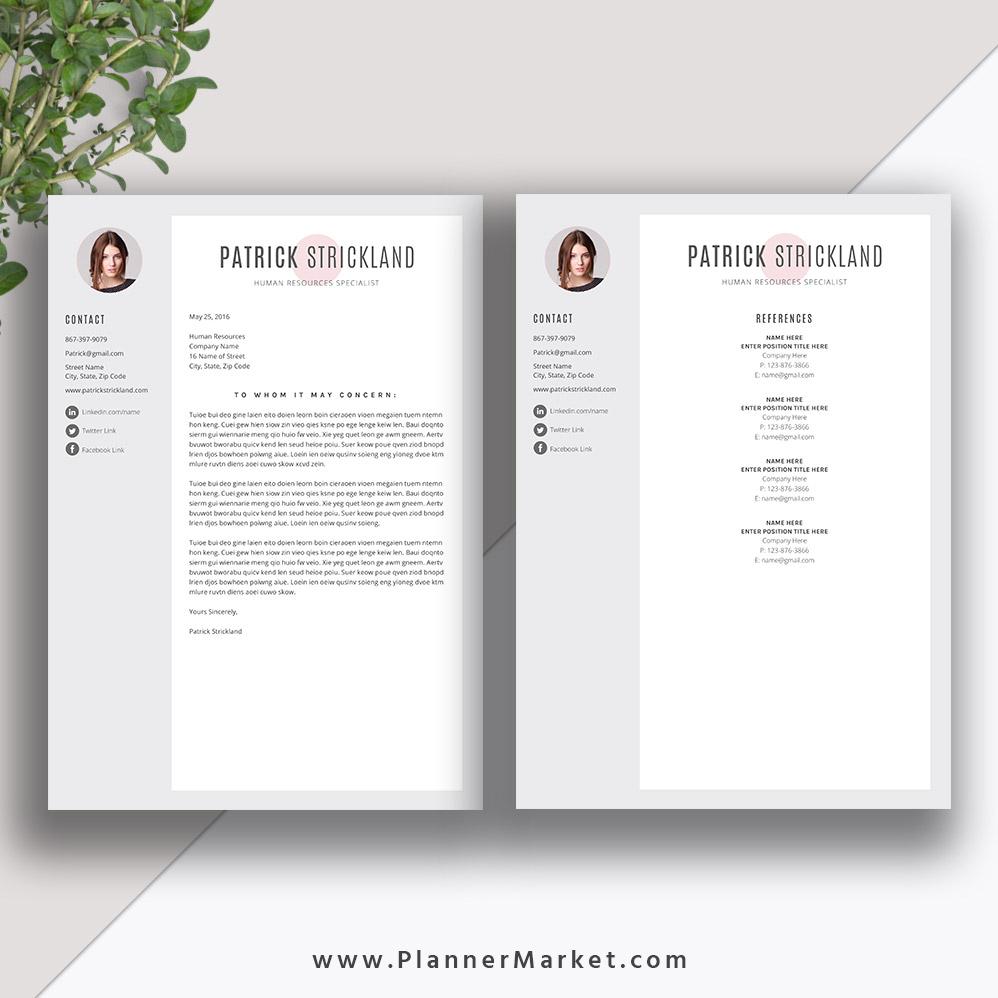 unique resume template  creative cv template word  modern