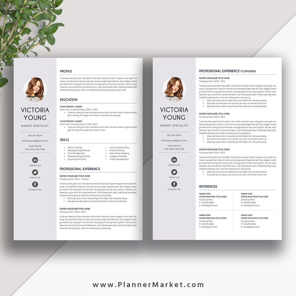 unique resume template cover letter word creative cv template