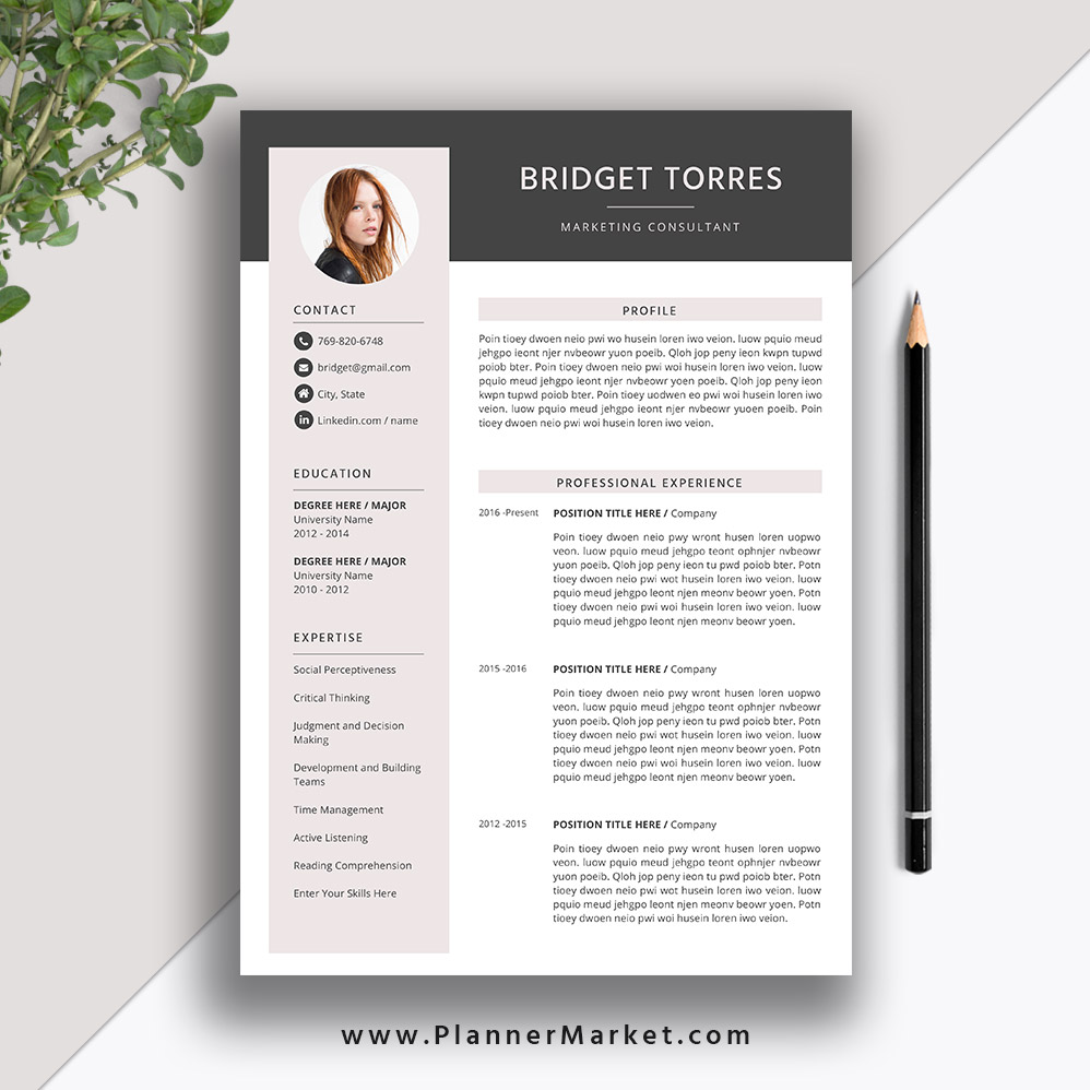 Modern Resume Template 2020 Creative Cv Template Word Resume